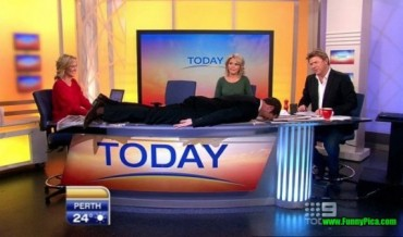 Post 16 Planking on Today's News Desk