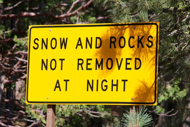 Post 23E Night Rock Sign