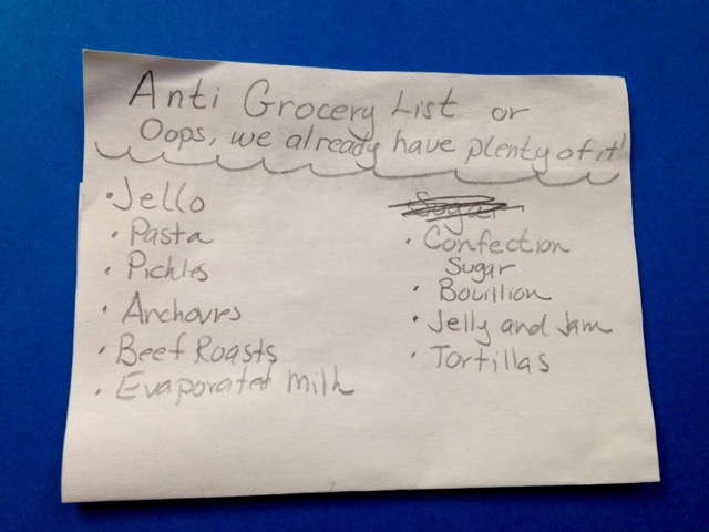 Photo 24 Anti-Grocery List