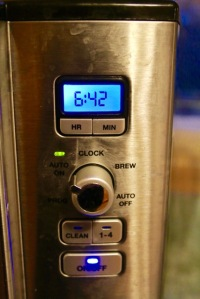 Post 33 Coffee Machine Clock