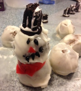 Imperfect Snowman Cookie