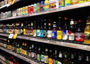 Post 72 Beer Shelf